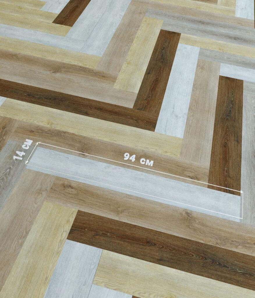 33333 876x1024 - Виниловая клеевая плитка Fine Flex FX-107 Дуб Тигирек