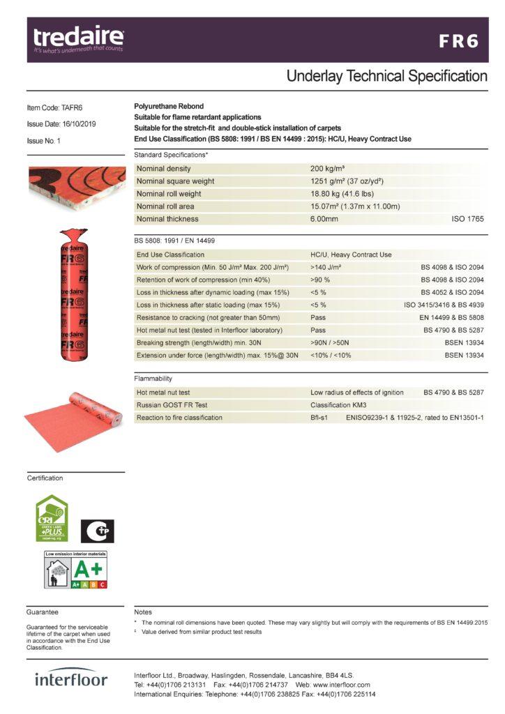 to 724x1024 - Подложка для ковролина Interfloor Dyralay FR6