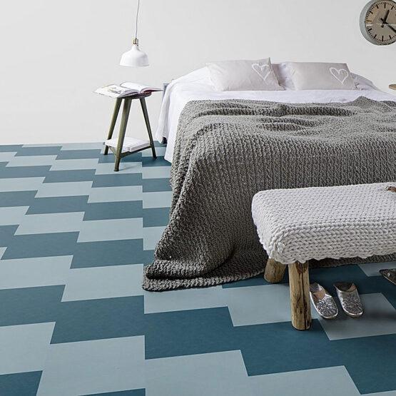 forbo marmoleum click square 333360 2 555x555 - Marmoleum Click 333360 vintage blue